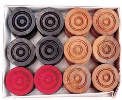 Retail World Wooden Coins (Pack of 24 Pcs) Carrom Pawns(Pack of 24)