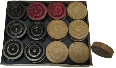 Sportson WOOD1 Carrom Pawns(Pack of 24)