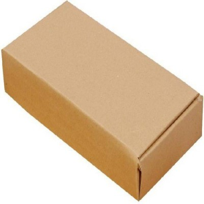 J.S.K. Corrugated Craft Paper Packaging Box(Pack of 100 Brown)