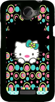 Snapdilla Back Cover for HTC One X, HTC One X, HTC One X Plus, HTC One XT(Colorful Bubbles Pattern Hello Kitty Cartoon Cool Mobile Pouch, Plastic)