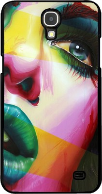 Snapdilla Back Cover for SAMSUNG Galaxy Mega 2(Colorful Modern Art Stunning Girl Face Animated Painting Mobile Cover, Plastic)