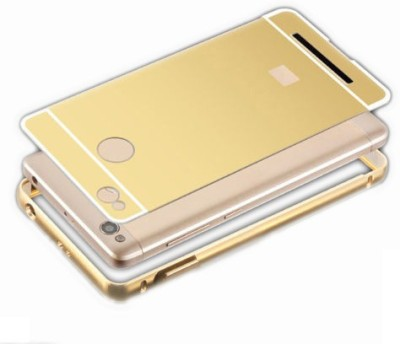MAJANSY Back Cover for Mi Redmi 3S Prime(Golden, Metal)