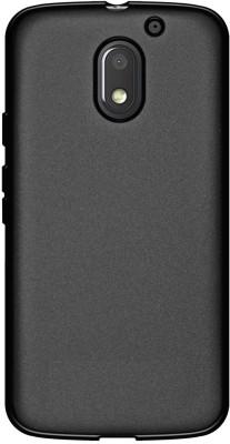 Cover Alive Back Cover for Motorola Moto E3 Power(Black, Rubber)