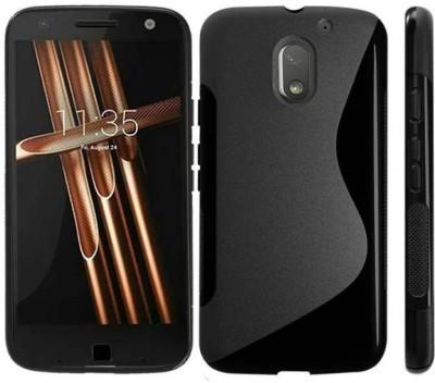 S-Gripline Back Cover for Motorola Moto E3 Power(Black, Silicon)