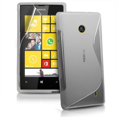 KolorFish Back Cover for Nokia Lumia 520, Nokia Lumia 525 (Grey)