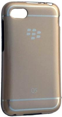Tommcase Back Cover for Blackberry Q5(Gold, Rubber)