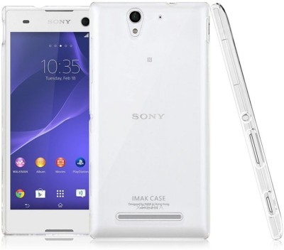 Heartly Back Cover for Sony Xperia C3 Dual Sim D2502 D2533 Transparent Heartly Plain Cases   Covers