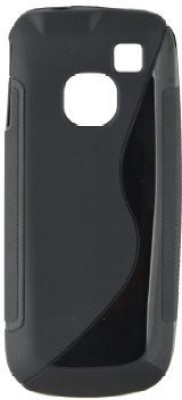 Helix Back Cover for Samsung Wave Y S5380(Black, Silicon)