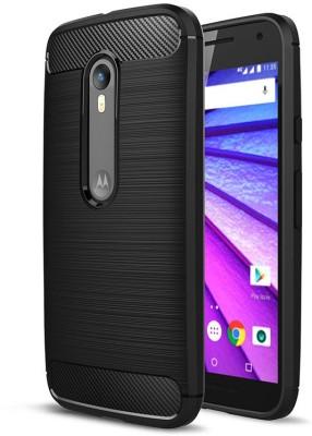 Crust Back Cover for Motorola Moto G (3rd Generation), Motorola Moto G Turbo Edition(Black, Plastic)