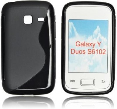 Icod9 Back Cover for Samsung Galaxy Y Duos S6102(Black, Plastic)