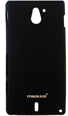 Fonokase Back Cover for Sony Xperia Sola(Black)