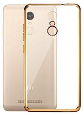 G MOS Back Cover for Mi Redmi Note 3 Gold, Transparent, Silicon