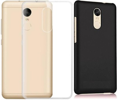 Mozette Back Cover for Mi Redmi Note 4 Transparent, Black