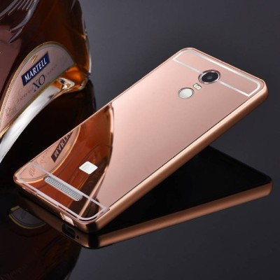 TRUE Back Cover for Metal Bumper Plus Acrylic Mirror Back Cover for Redmi Note 3 Rose Gold(TRUE ROSE GOLD, Metal) Flipkart