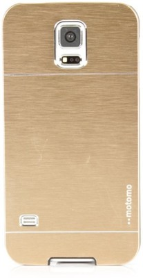 Motomo Back Cover for SAMSUNG Galaxy S5(Gold, Metal, Plastic)