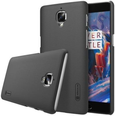 Nillkin Back Cover for OnePlus 3, OnePlus 3T Black Nillkin Plain Cases   Covers