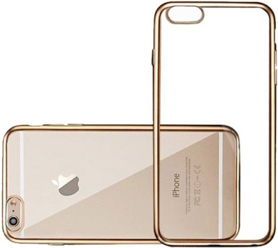 MV Back Cover for Apple iPhone 6s Gold, Transparent, Silicon