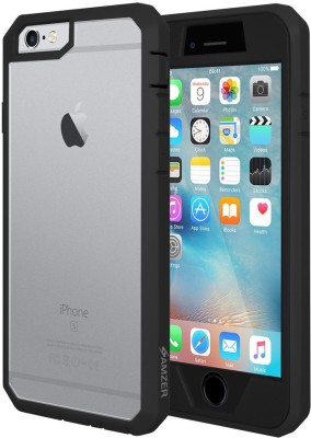 Amzer Front & Back Case for Apple iPhone 6s, Apple iPhone 6(Black, Rubber)