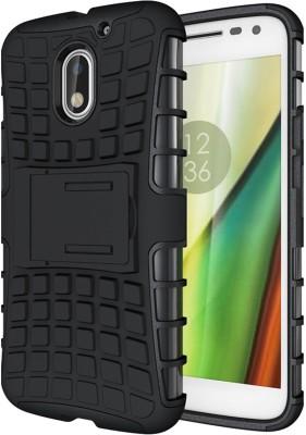 4 ur Fone Back Cover for Motorola Moto E3 Power(Black, Shock Proof, Plastic)