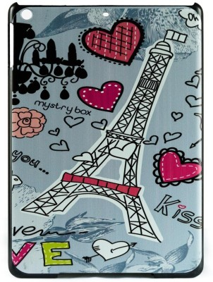 Mystry Box Back Cover for Apple iPad 5 / iPad Air 5th Gen (9.7 inch)(Lovely Eiffel Tower Multicolor)
