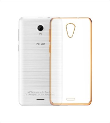 Case Creation Back Cover for Intex Aqua Q7(Golden Border Transparent, Flexible Case) Flipkart