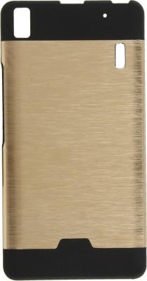GadgetM Back Cover for Lenovo A7000(Golden, Metal, Rubber)