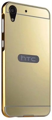 GadgetM Back Cover for HTC Desire 728(Gold, Metal, Plastic)