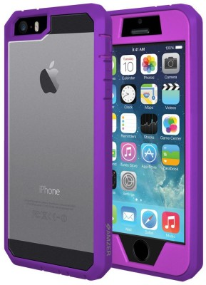 Amzer Front & Back Case for Apple iPhone 5s, Apple iPhone 5, Apple iPhone SE(Purple, Rubber)