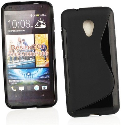Sprik Back Cover for HTC Desire 700(Black, Rubber)