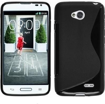 S Fancy Back Cover for LG D325 L70(Berry Black)