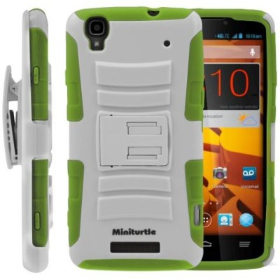 MINITURTLE Back Cover for MINITURTLE, 2 in 1 Hybrid Dual Layer Armor Phone Case Cover with Kickstand, Holster Belt Clip, and Screen Protector for Prepaid Android Smartphone ZTE Max Boost N9520 /Boost Mobile ( / )(Multicolor)