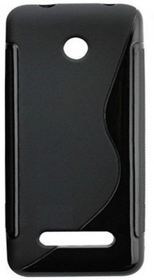 S Fancy Back Cover for Nokia Asha 206(Berry Black, Plastic)