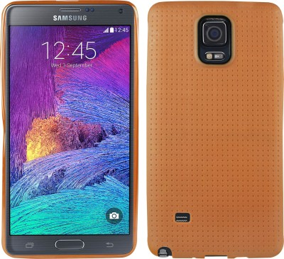 Heartly Back Cover for Samsung Galaxy Note 4 N910(Brown, Silicon)