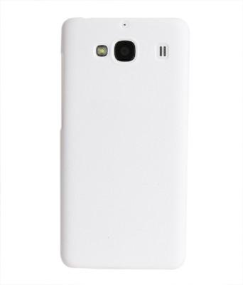 Coverage Back Cover for Mi Redmi 2 Prime White Coverage Plain Cases   Covers