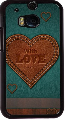 Snapdilla Back Cover for HTC One M8, HTC M8, HTC One M8 EYE, HTC One M8 Dual Sim, HTC One M8s(Classic Leather Pattern With Love Quote Best Wishes For Loved Ones Mobile Cover, Plastic)