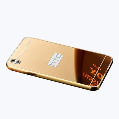 GadgetM Back Cover for HTC Desire 816(Gold, Metal, Plastic)