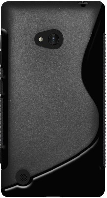 Amzer Back Cover for Nokia Lumia 720(Solid Black, Artificial Leather, Rubber)