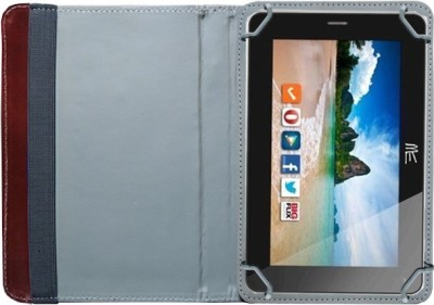 Fastway Book Cover for HCL Me V2 Tab(Brown)