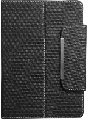 Fastway Flip Cover for Micromax Canves Tab P666(Black, Artificial Leather)