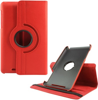 DMG Book Cover for Asus Google Nexus 7 1st Generation 2012(Red, Artificial Leather, Plastic)