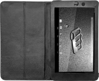 Fastway Book Cover for Micromax Canvas Tab P666 8 inch(Black)