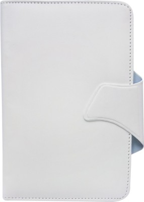 Fastway Book Cover for Alcatel One Touch Evo 7 HD(White)