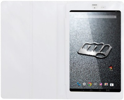 ACM Book Cover for Micromax Canvas Tab P666 8 inch(White)