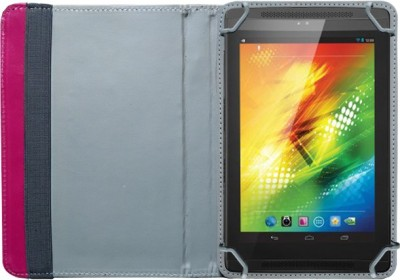 Fastway Book Cover for Xolo Play Tegra Note(Orange, Artificial Leather)