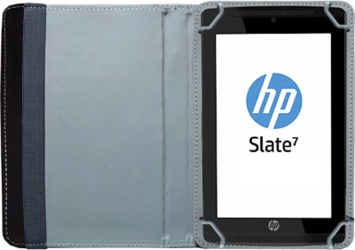 Fastway Book Cover for HP Slate 7 Voice Tab(Black, Artificial Leather)