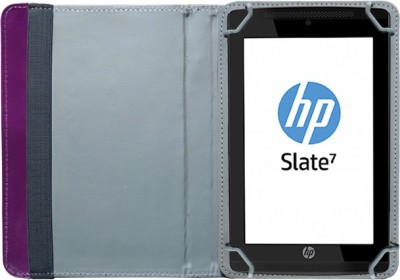 Fastway Book Cover for HP Slate7 VoiceTab Ultra(Purple, Artificial Leather)