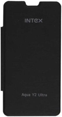 Cellista Flip Cover for Intex Aqua Y2 Ultra(black, Artificial Leather) Flipkart