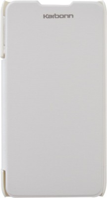 COVERNEW Flip Cover for Karbonn S7 Titanium(White)