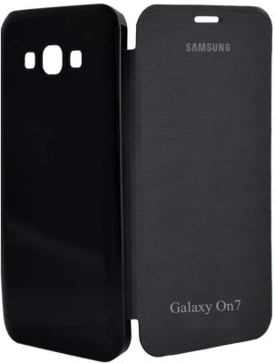Coverage Flip Cover for Samsung Galaxy On7(Black)