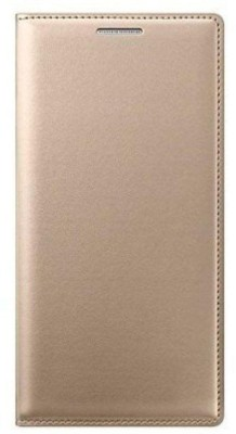 Lamayra Flip Cover for Motorola Moto E3 Power(Golden, Leather)